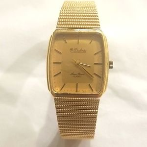 LUCIAN PICCARD Vintage Gold Dufonte Mens Watch